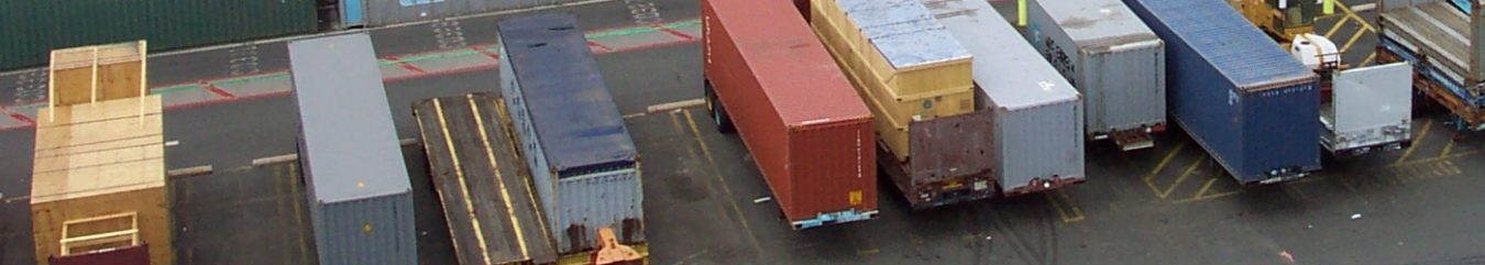 Just Freight Services - Container Freight at the Transport Depot